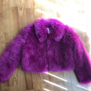 Trendy Hot Pink Faux Fur for Girls!